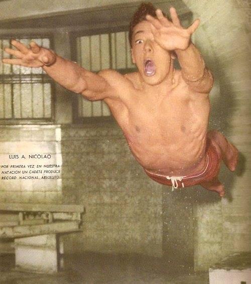27 de abril 1962: Récord mundial estilo mariposa – LUIS ALBERTO NICOLAO – ¡Y le tenía miedo al agua!