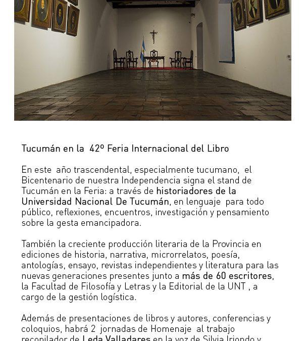 Tucumán en la 42º Feria Internacional del Libro