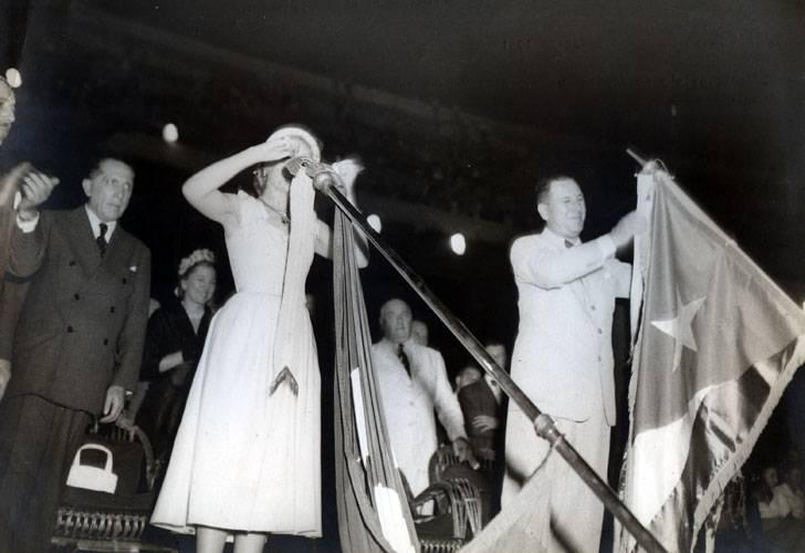 20190308ern y Evita clausuran los JP de 1951
