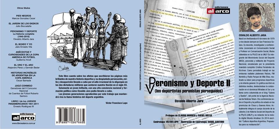 """Tercer libro de Osvaldo Jara — """"Peronismo y Deporte II"""""""