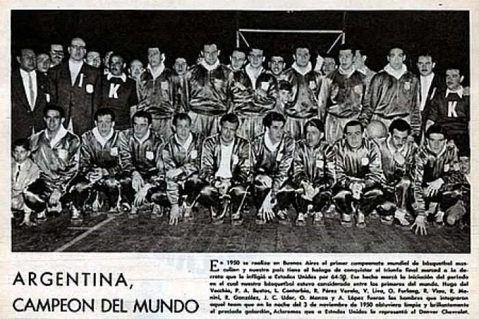 """03/11/1950 – Argentina Campeón Mundial de Básquetbol: """"La Noche de las Antorchas"""""""