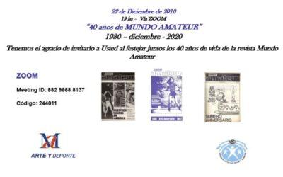 40° Aniversario Revista MUNDO AMATEUR: 1980 – 20 DICIEMBRE – 2020.