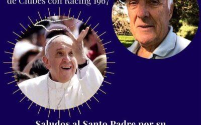 El Papa respondió a saludos de los deportistas
